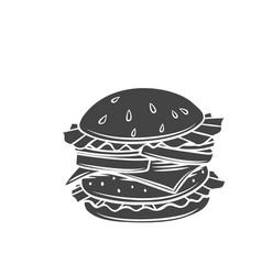Hamburger glyph icon vector