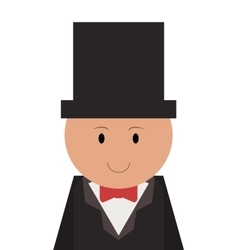 happy groom icon vector image