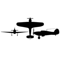 Hawker hurricane i all silhouette vector
