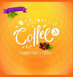 image of coffee for sale colorful marketing poster vector image