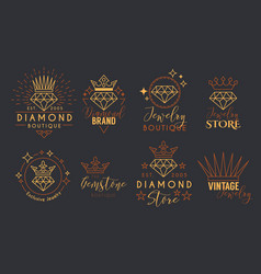 Jewelry logo set for jewelry stor vector