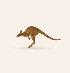 Kangaroo jumping shape graphic vector