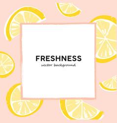 lemon slices summer banner template white vector image
