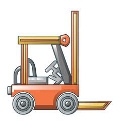 Lift truck icon cartoon style vector