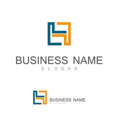 line square letter h logo vector image