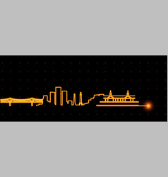 Louisville light streak skyline vector