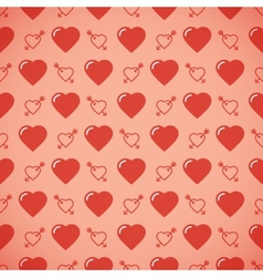Lovely heart romantic pattern vector