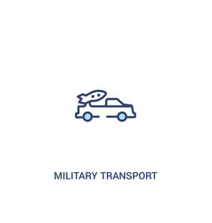 military transport concept 2 colored icon simple vector image