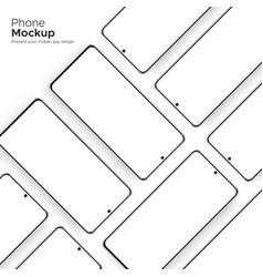Modern frameless smartphone screens mockups vector