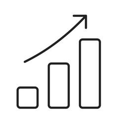 monochrome growth bar chart icon vector image