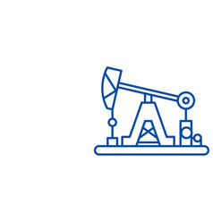 oil industry line icon concept oil industry flat vector image