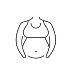 Pregnant woman line outline icon vector