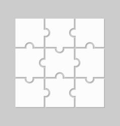 Puzzle 9 parts vector