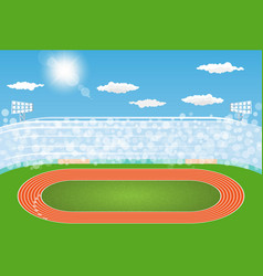 Running track arena field with day design vector