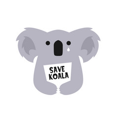 save koala logo icon vector image