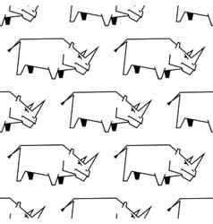 Seamless pattern a stylized rhinoceros vector