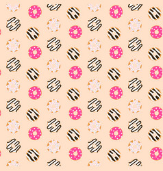 Seamless pattern sweet glazed donuts vector