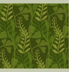 seamless texture with transparent plants and vector image