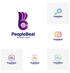 set of community logo template designs concepts vector image