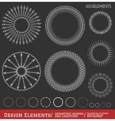 Set of geometric hipster shapes and logotypes654 vector