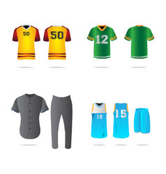 set of sport uniforms vector image