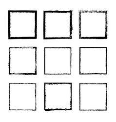 set of square frames drawn 4 vector image