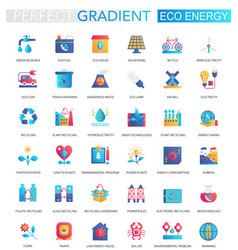 set of trendy flat gradient renewable vector image