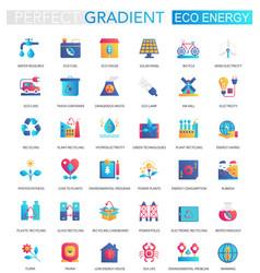 set trendy flat gradient renewable vector image
