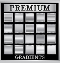 silver gradient backgrounds set vector image