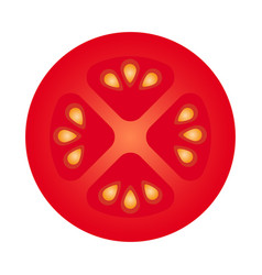 slice of tomato vector image