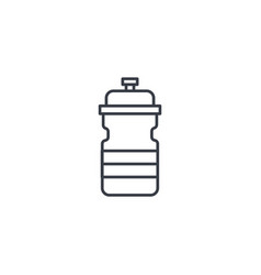 sport water bottle thin line icon linear vector image