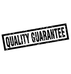 Square grunge black quality guarantee stamp vector