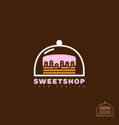sweet shop logo vector image