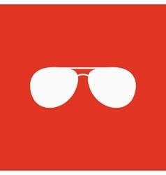 The sunglasses icon Glasses symbol Flat vector image