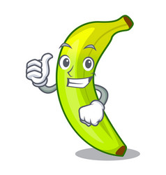 Thumbs up character natural fruit fresh green vector