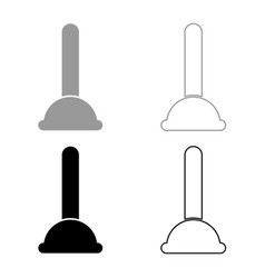 Toilet plunger sanitary tools household cleaning vector