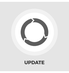 Update icon flat vector