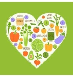 Vegan restaurant healthy food background vector