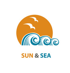 Wave sun 3 vector