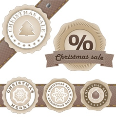 Winter vintage discount labels set vector image