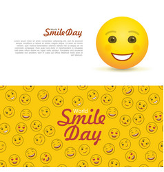 world smile day horizontal flyers vector image