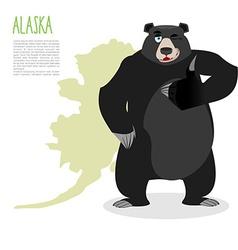 American black bear baribal and Alaska Grizzlies vector image