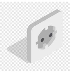 electric white socket isometric icon vector image