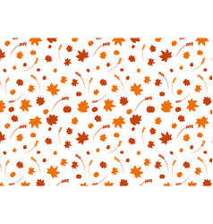 fall theme pattern vector image vector image