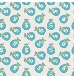 Seamless pattern of bags with money coins vector image vector image
