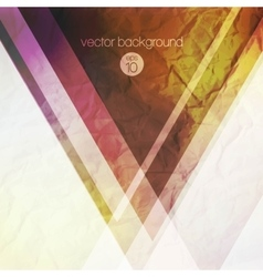 abstract background with colorful triangles vector image vector image