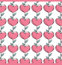 Beauty heart plant with leaves design background vector