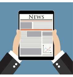 Businessman reading news vector image