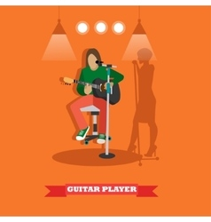Country song guitarist playing guitar Music rock vector image