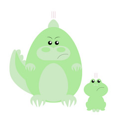 crocodile and frog angry vector image vector image